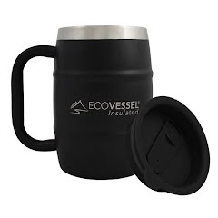 Eco Vessel Double Barrel Insulated Beer and Coffee Mug  16 oz Image