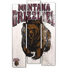 Wincraft University of Montana Grizzlies Wood Fence Sign Image