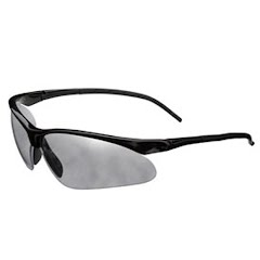 Champion Half Frame Flex Wire Ballistic Shooting Glasses (Smoke Mirror) Image