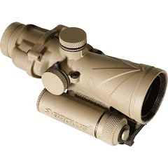 Browe Optics 4x32 BCO FDE with Green .300 Blackout Horseshoe and Dot Reticle, ARMS Mount Image