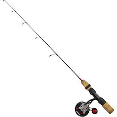 Frabill Straight Line 371 Bro Series 32 Inch Walleye Jigging Rod and Reel Combo (M/L) Image