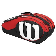 Wilson Match Black and Red 6 Pack Tennis Bag Image