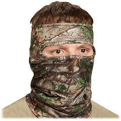 Hunter Specialties Scent-A-Way Silver Light2eight Spandex 3/4 Face Mask Image