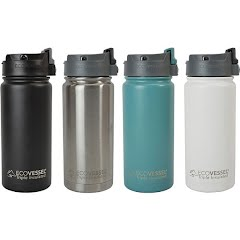Eco Vessel Perk Triple Insulated 16 oz Mug with Push Button Top Image