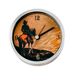 Big Sky Carvers Cowboy Clock-n-Can Image