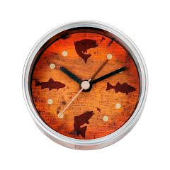 Big Sky Carvers Fish Clock-n-Can Image