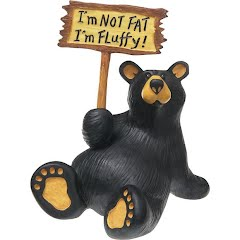 Big Sky Carvers I'm Fluffy Bear Figurine Image