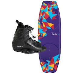 Cwb Women's Sapphire Wakeboard w/ Hyperlite Frequency Binding Combo Image