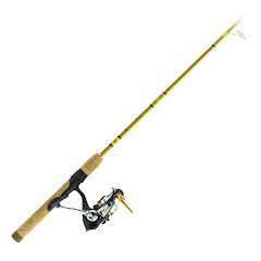 Eagle Claw Crafted Glass Spinning Combo 6 Foot 6 Inch Medium Action 2 Piece Image