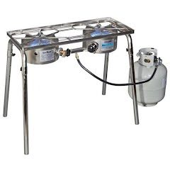Camp Chef Stainless Explorer Two Burner Stove Image