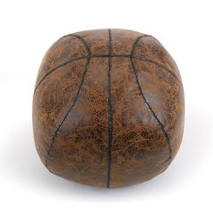 Big Sky Carvers Faux Leather Basketball Door Stop Image