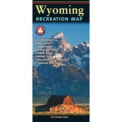 Benchmark Maps Wyoming Recreation Map Image