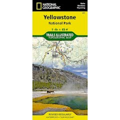 National Geographic Yellowstone National Park Map Image