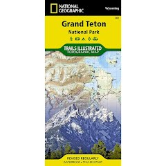 National Geographic Grand Teton National Park Map Image