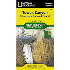 National Geographic Tower, Canyon: Yellowstone National Park NE Map Image