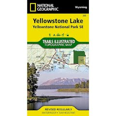 National Geographic Yellowstone Lake: Yellowstone National Park SE Map Image