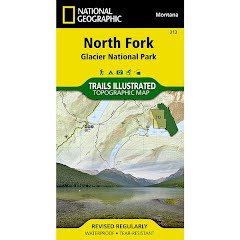 National Geographic North Fork: Glacier National Park Map Image