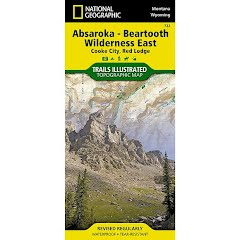 National Geographic Absaroka-Beartooth Wilderness East Trail Map Image