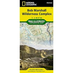 National Geographic Bob Marshall Wilderness Trail Map Image
