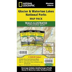 National Geographic Glacier and Waterton Lakes National Parks Map Pack Bundle Image