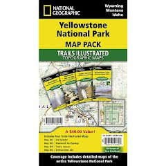 National Geographic Yellowstone National Park Map Pack Bundle Image