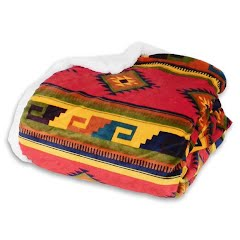 Trail Crest Trail Crest Plush Coral Fleect Nordic/Aztec Double Layer Blanket Image