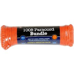 Sona Enterprises 100ft Orange w/ Reflective Tracer Paracord Bundle Image