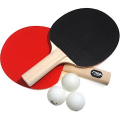 Stiga Classic 2-Player Table Tennis Racket and Ball Set Image