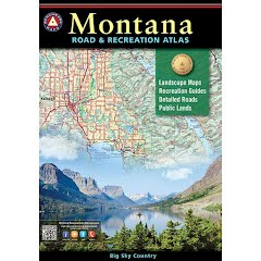 Benchmark Maps Montana Road and Recreation Atlas (3rd Edition) Image