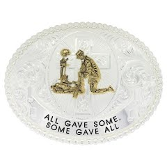 Montana Silversmiths Western Belt Buckle (All Gave Some, Some Gave All) Image