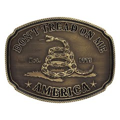 Montana Silversmiths American Gadsden Don't Tread on Me Heritage Attitude Buckle Image