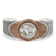 Montana Silversmiths Buffalo Feather Cuff Bracelet Image