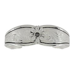 Montana Silversmiths Antiqued Evening Star Flower Cuff Bracelet