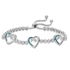 Montana Silversmiths Follow Your Arrow Heart Bolo Bracelet Image
