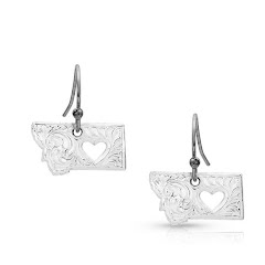 Montana Silversmiths I Heart Montana State Charm Earrings Image