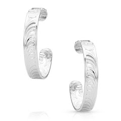 Montana Silversmiths Northern Star Light Hoop Earrings Image