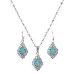 Montana Silversmiths Royal Cluster Drop Jewelry Set Image