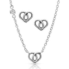 Montana Silversmiths Forever Love Heart Mini Jewelry Set Image