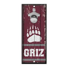 Wincraft University of Montana GRIZ Bottle Opener Sign Image