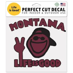 Wincraft Montana Life Is Good 8'' Perfect Cut Decal Image