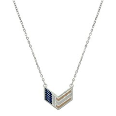 Montana Silversmiths Patriotic Chevron Flag Necklace Image
