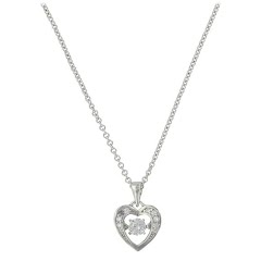 Montana Silversmiths Let's Dance A Little Dance Heart Necklace Image