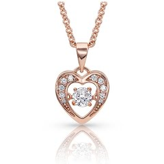 Montana Silversmiths Let's Dance A Little Dance Rose Gold Heart Necklace Image