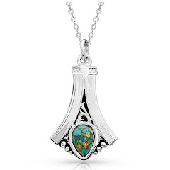 Montana Silversmiths Gracefully Yours Turquoise Necklace Image