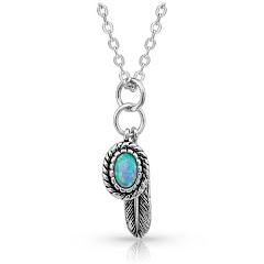 Montana Silversmiths Wishing On Hope Opal Necklace Image