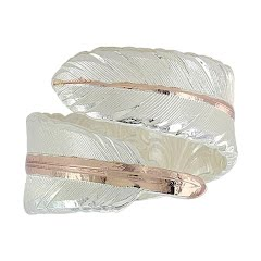 Montana Silversmiths Rose Gold Filament Feather Ring Image