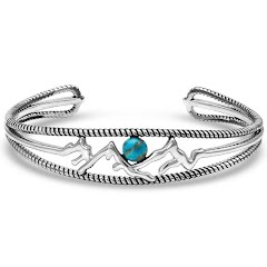 Montana Silversmiths Pursue the Wild Another Mountain Turquoise Cuff Bracelet Image