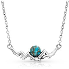Montana Silversmiths Pursue the Wild Another Mountain Turquoise Necklace Image