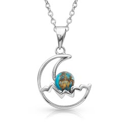 Montana Silversmiths Pursue the Wild Mountain Moon Turquoise Necklace Image