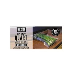 Weston Products Quart 8 x 12 Vacuum Bags (30 Count) Image